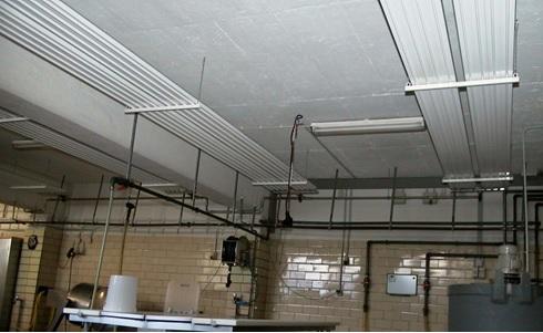 Панели лучистого отопления в помещении